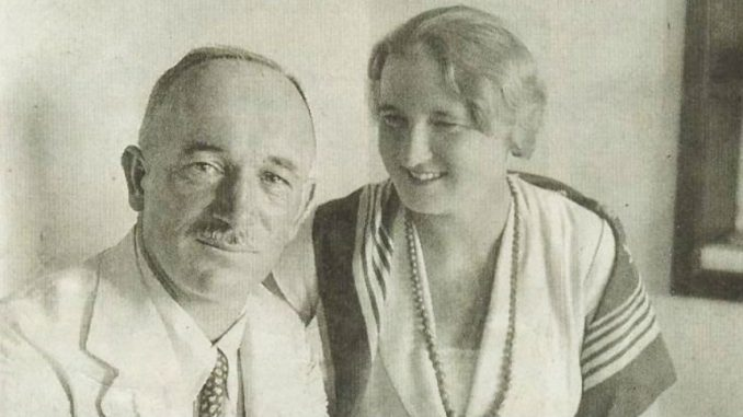 Edvard Beneš with his wife in 1934